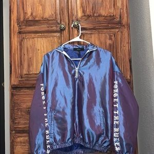Chrome jacket blue and purple forever 21